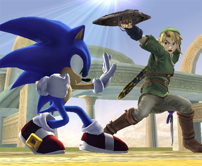 Link Vs Mario Brawl Sonic s Special Moves