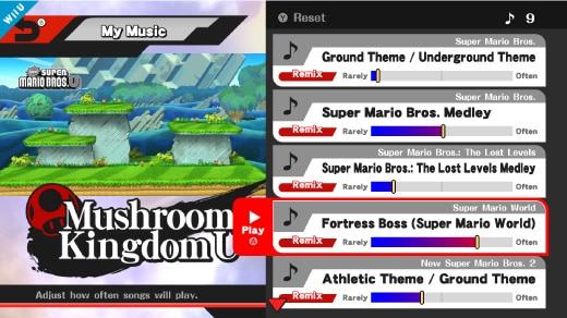 Super Smash Bros  for Wii U: My Music