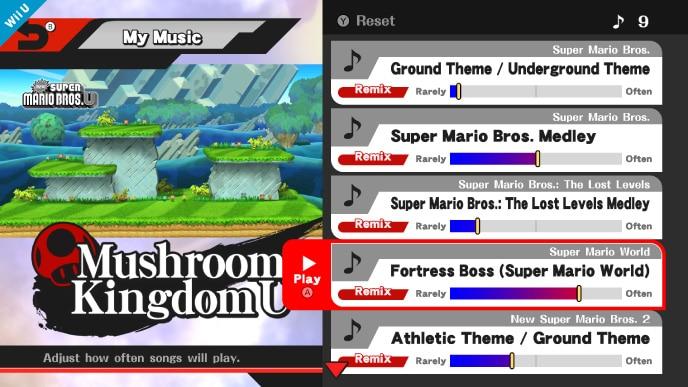 Super Smash Bros  for Wii U: My Music